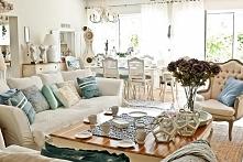 dekoracje salonu i jadalni w stylu Hampton - artykuły z  Bellemaison