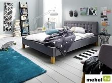 Łóżko ICE tkanina szara