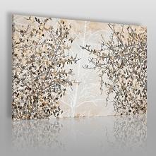 Jesienne liście - nowoczesny obraz na płótnie