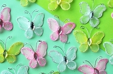 Motylki z tiulu. Wszystkie ...