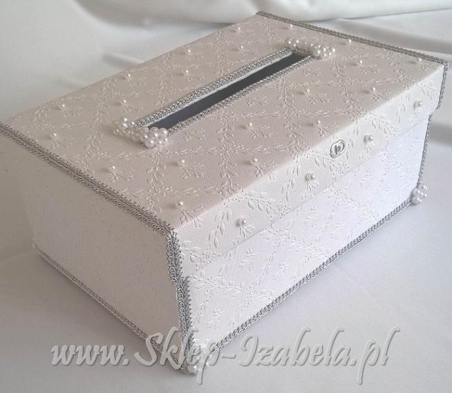 pudełko na koperty ślubne i kartki z życzeniami