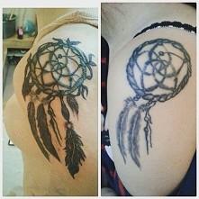 Mój Łapacz snów przerobiony przez narzeczonego :)  fanpage Krystiana na Facebooku: Krystian Rosiński tattoo