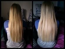 Włosy marzenie. Dbanie o włosy przynosi efekty. Tu po nawilżaniu.
