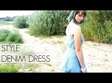 Stylizacja lato 2016: Sukienka dżinsowa - denim - eButik