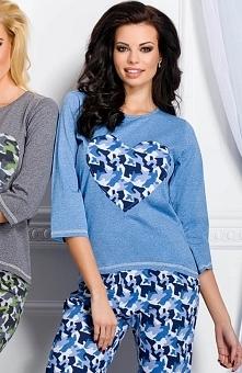 Taro Karla 1183 piżama jeansowa Rewelacyjna dwuczęściowa piżamka, wykonana z ...