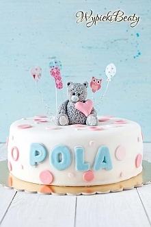 Tort urodzinowy z  misiem