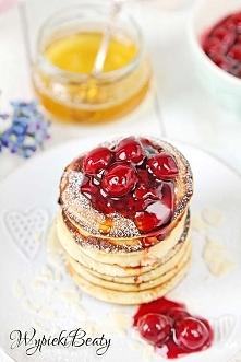 Miodowe pancakes
