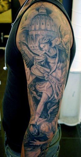 Tatuaże Męskie Anioł I Demon Na Tatuaże Zszywkapl