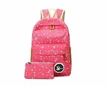 Plecak różowy tornister w gwiazdki. Kliknij w zdjęcie a przekieruje Cię do sklepu :)