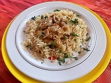 Ryż i kurki, w tym przepisie najdłużej czeka się na ryż...