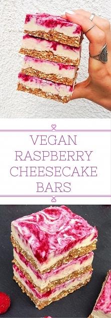 Vegan Raspberry Cheesecake Bars 45 min. czas przygotowania, dla 15