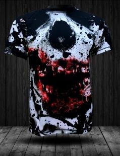Czerwono biała koszulka z najnowszej kolekcji marki FPwear. Doskonałej jakości nadruk sublimacyjny na całej powierzchni koszulki przedstawiający strasznego zombiaka przyciągnie uwagę i świetnie podkreśli nas styl.   Jeżeli szukasz ciekawych i oryginalnych ubrań to ten t-shirt jest właśnie dla Ciebie.  Koszulka z powodzeniem dopasuje się do codziennego stroju. Wysokiej jakości włókno poliestrowe firmy Coolmax zapewni niepowtarzalny komfort noszenia. Wybierasz się na miasto, imprezę do klubu czy domówkę? Zadziw wszystkich swoim ubiorem.  Materiał koszulki: 100% włókno poliestrowe. Grafika zrobiona w technologii sublimacji, jest niewyczuwalna w dotyku, nieścieralna i odporna na warunki atmosferyczne. Sprawdź sam!