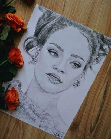 Wykonam na zamówienie portret (ze zdjęcia) ołówkiem, format A4 link w komentarzu :)
