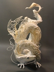 Seriously - so lovely.....White Dragon original OOAK sculpture by creaturesfromel on Etsy, $1025.00 - *o* można się dorobić