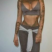 women, body, fit, tatto,