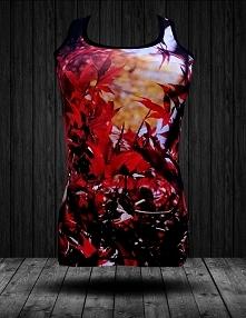 Piękny tanktop fullprint dla Pań marki FPwear. Czerwone liście i fotograficzny sublimacyjny nadruk sprawi, że rzucisz się wszystkim w oczy.   Została ona zrobiona z włókna polie...