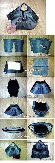 Jak uszyć torbę ze starych jeansów