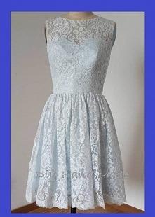 Handmade Sukienka uszyta z koronki bawełnianej i satyny grubej. Klasyczny klo...