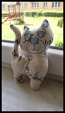 Kotek - zabawka handmade