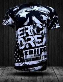 Koszulka fullprint American Dream - tshirt o amerykańskim sposobie życia, o społeczeństwie i kulturze. Amerykański sen czyli narodowy etos Stanów Zjednoczonych.