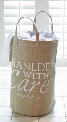 dekoracyjny worek na pranie w stylu Hampton - bellemaison