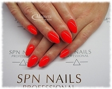 Neon coral   Nails by Monika, Studio Magnetic Nails Monika Sokołowska Kielce, SPN Instructor
