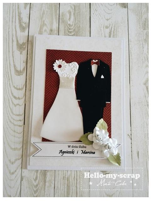 Kartka ślubna 3 Link Po Kliknięciu Na Zdjęcie Na Scrapbooking
