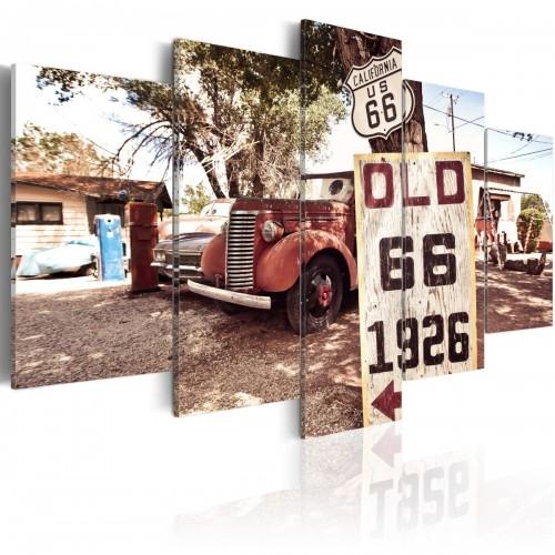 Obraz - California - vintage style   bogatewnetrza.pl