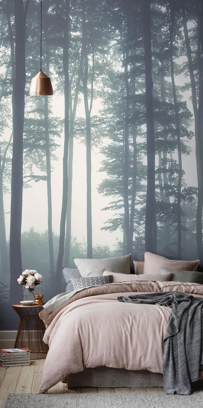 Piękna fototapeta w sypialni... Cudowne kolory :]