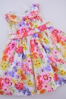 Sukienka w kwiaty... odzież dziecięca - Zapraszamy na nową dostawę.
