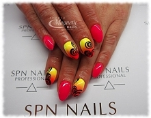 Wild Pink & Sunny Day   Nails by Olga, Studio Magnetic Nails Monika Sokoł...