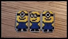 Minionki - haft krzyżykowy - magnesy
