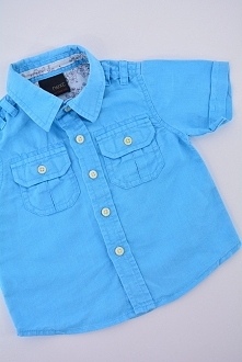 Błękitna koszula - odzież dziecięca - nowa dostawa - zobacz.