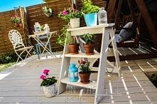 DIY drabinka na kwiaty za mniej niż 50 zł
