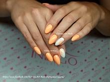 Veni Vidi Peachy i White Gel Brush Indigo <3