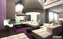 apartament z lampą ld
