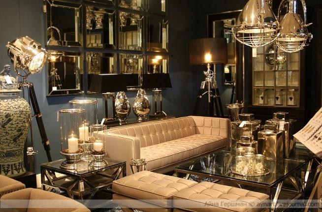 oświetlenie i meble w stylu modern classic