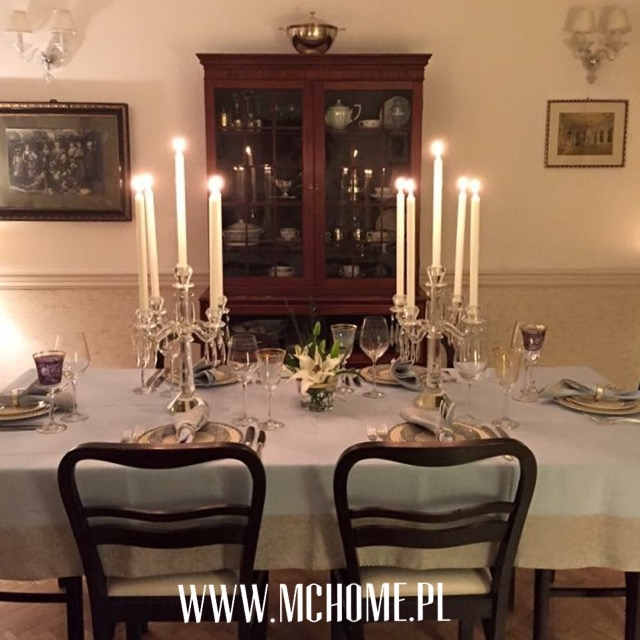 elegancka kolacja przy świecach by modern classic home.pl