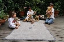 Dywan bawełniany w kształcie Misia do pokoju dziecięcego - najlepszy w utrzymaniu czystości