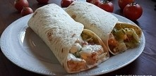 Wrap czyli tortilla z kurczakiem i warzywami SKŁADNIKI 0,5 sałaty lodowej ogó...