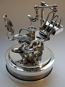 Stomatolog - puzderko srebr...