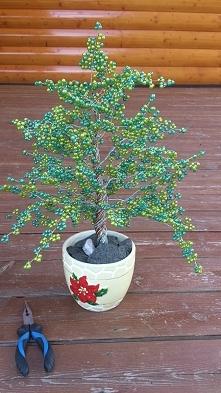 drzewko szczęścia z koralików