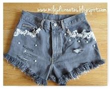 Poszarpane szorty jeansowe z dziurami, trend lata 2016, spodenki DIY // Waist...