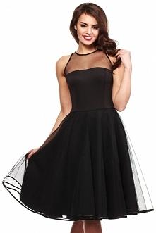 Czarna rozkloszowana sukien...