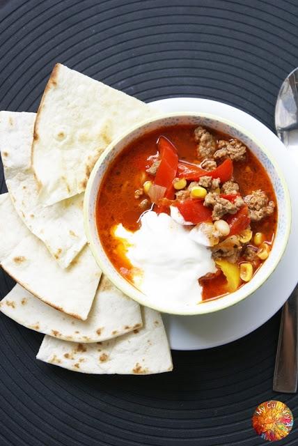 Meksykańska zupa paprykowa - przepis po kliknięciu w zdjęcie