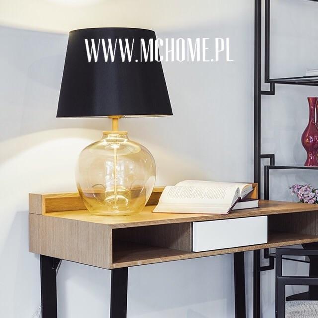 lampa szklana w kolorze bursztynowym