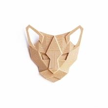 minimalistyczny kot, wykonany techniką druku 3D dostępny w formie broszki, br...
