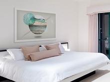 Morze słów, ocean milczenia - nowoczesny obraz do sypialni