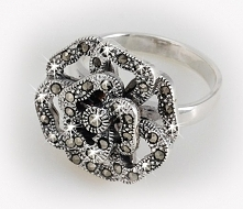 pierścionek, srebro, markaz...