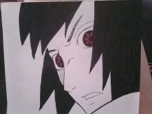 Nudziło mi się więc tak oto powstał ten rysunek Sasuke Xd